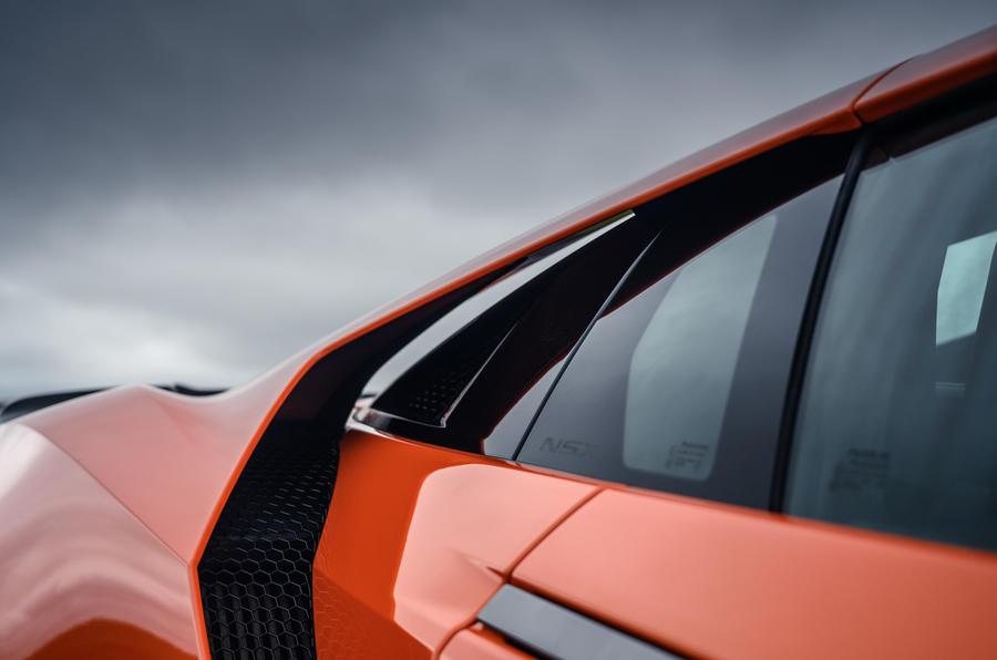 Honda NSX hybrid supercar feature - rear arch