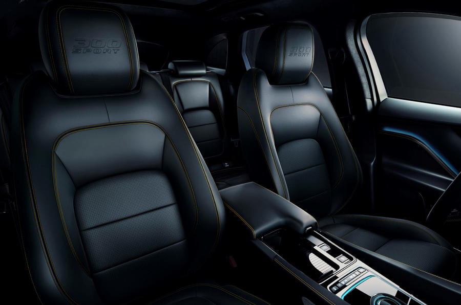 Jaguar F-Pace 300 Sport 2019 press - seats