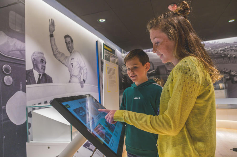 Jim Clark Museum preview day - interactive elements