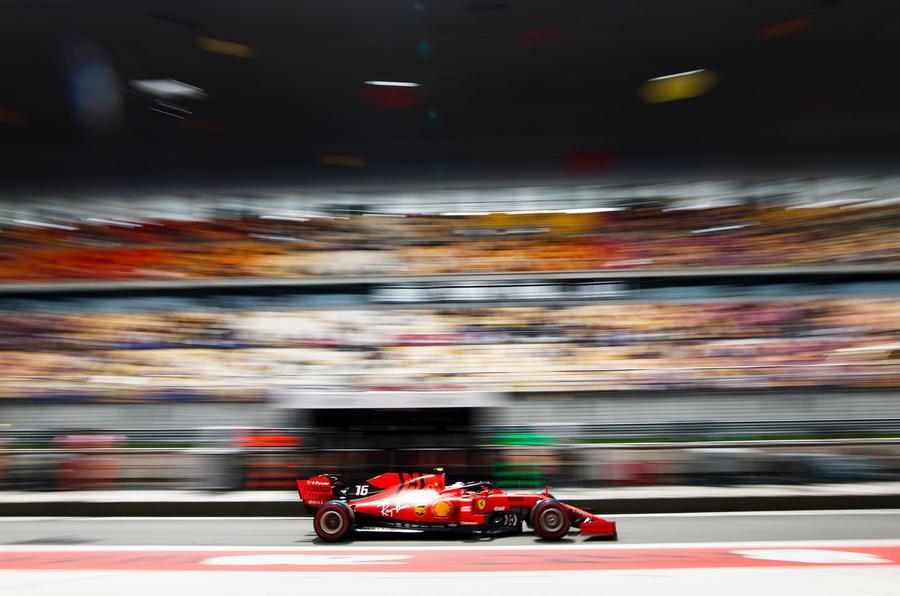Charles Leclerc interview, 2019 British Grand Prix - grandstand