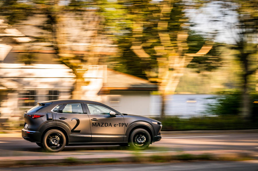 Mazda e-TPV prototype 2019 first drive review - on the road side
