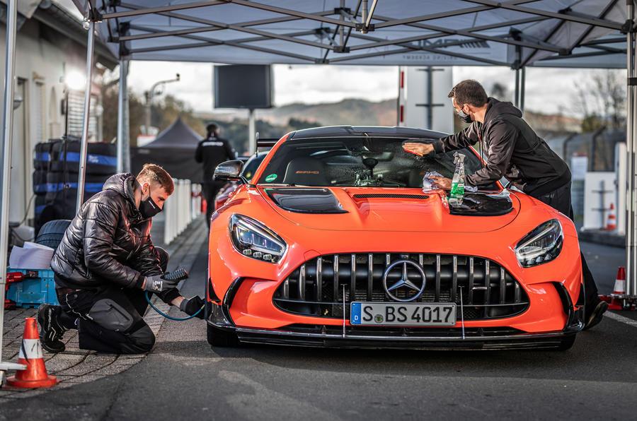 Mercedes-AMG GT Black Series Nurburgring record - prep work