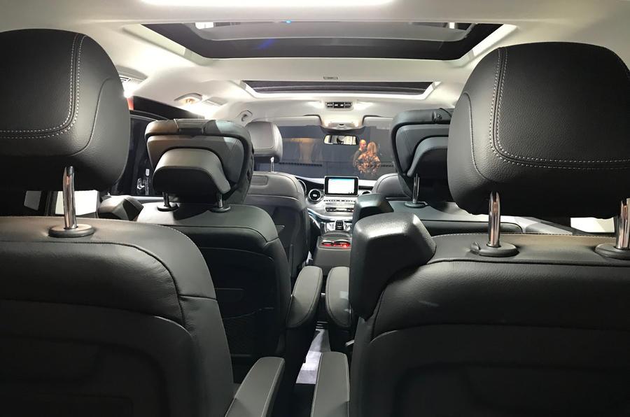 Mercedes-Benz V-Class 2019 reveal - rear seats