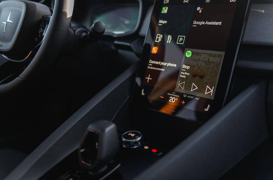 2020 Polestar 2 prototype drive - infotainment