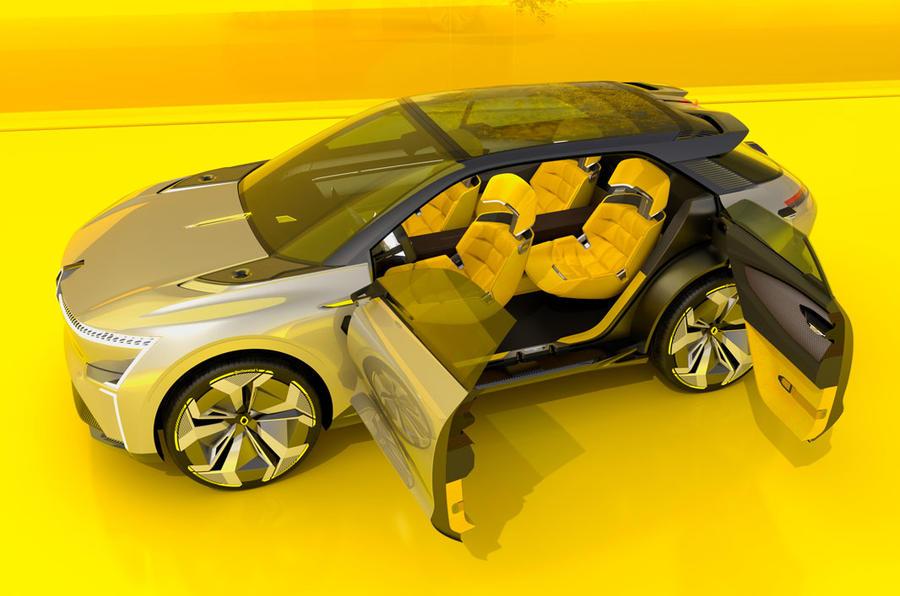 Renault Morphoz concept official studio images - doors open