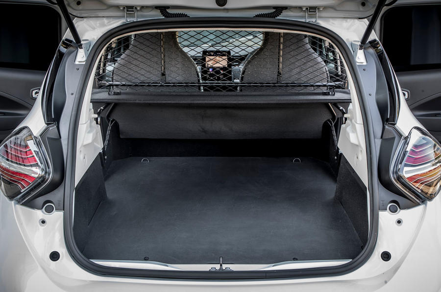 Renault Zoe van 2020 official images - rear interior