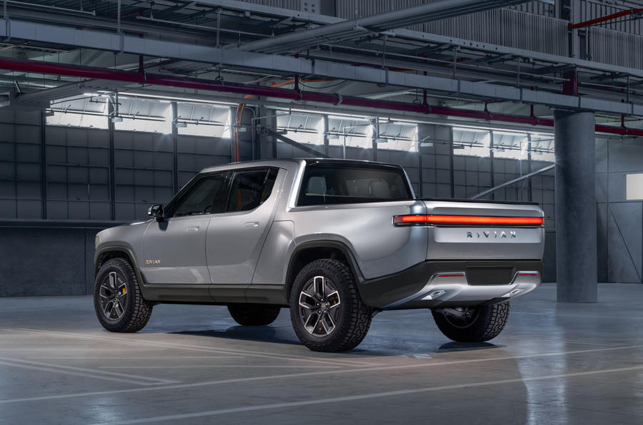 Rivian R1T electric pick-up reveal - static rear