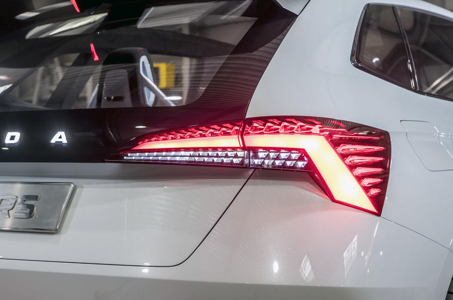 Skoda Vision RS concept drive - rear lights
