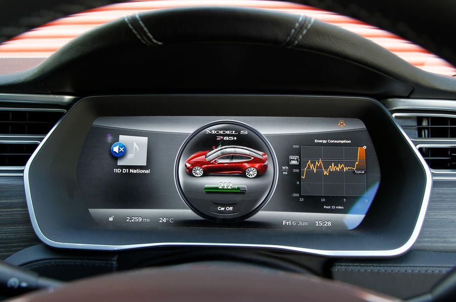 Tesla Model S road test rewind - instruments