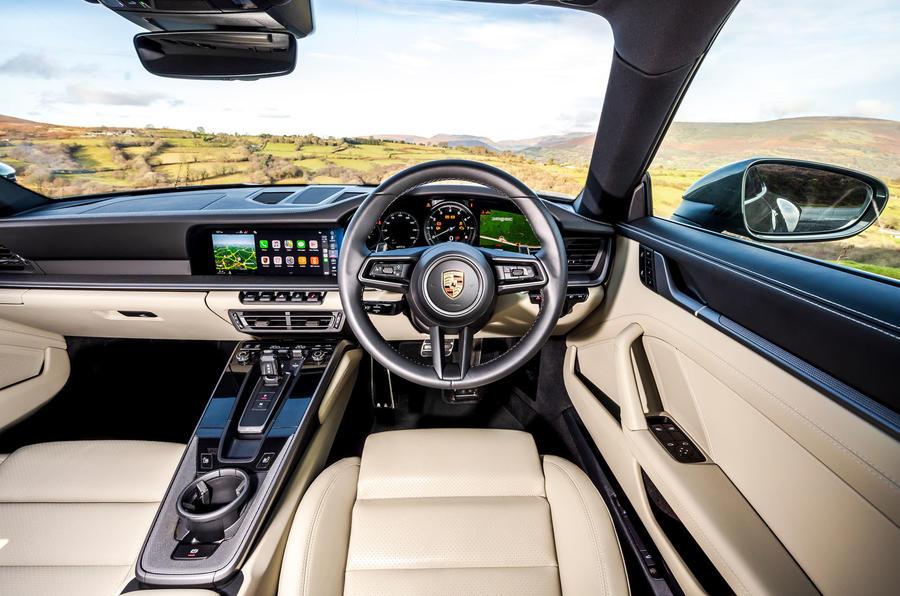 Top 50 cars 2020 - final five - Porsche 911 992 interior