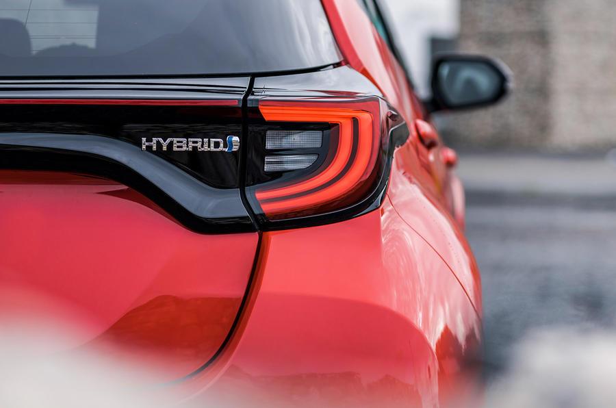 2020 Toyota Yaris prototype drive - rear lights