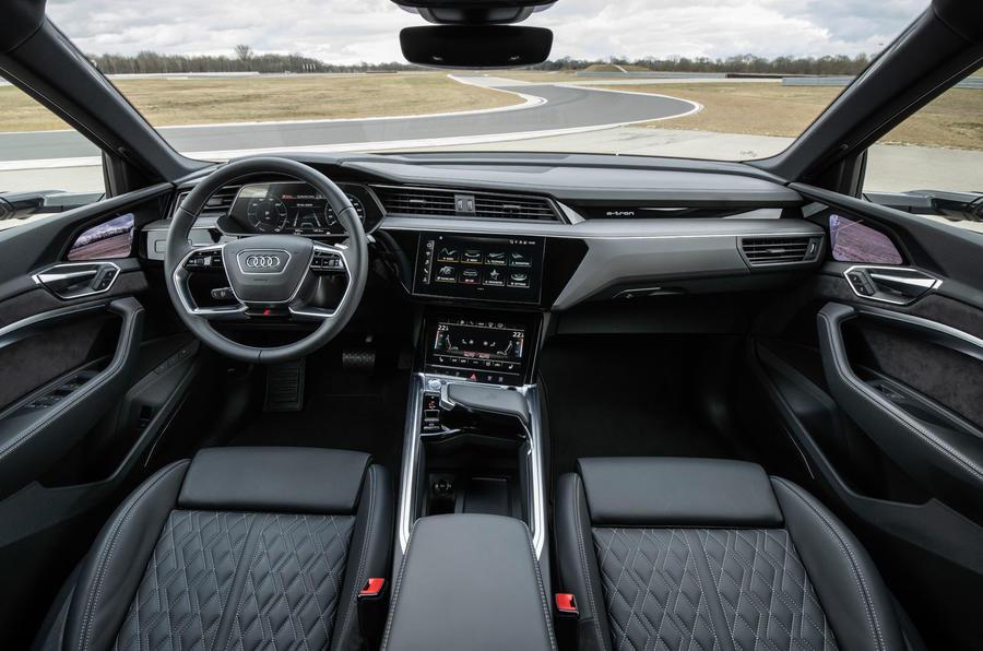 Audi E-tron S Sportback prototype drive - interior