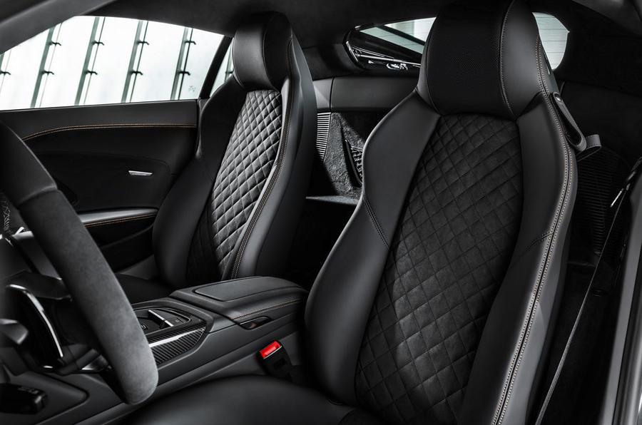 Audi R8 V10 Decennium official press images - seats
