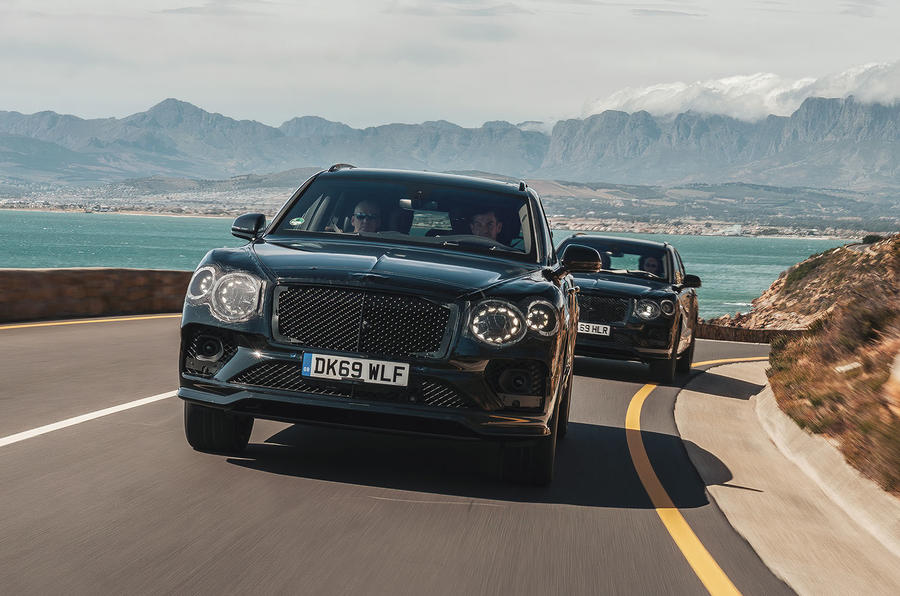 2020 Bentley Bentayga refresh prototype drive - convoy