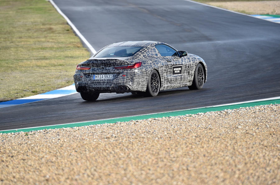 2019 BMW M8 prototype ride - track rear