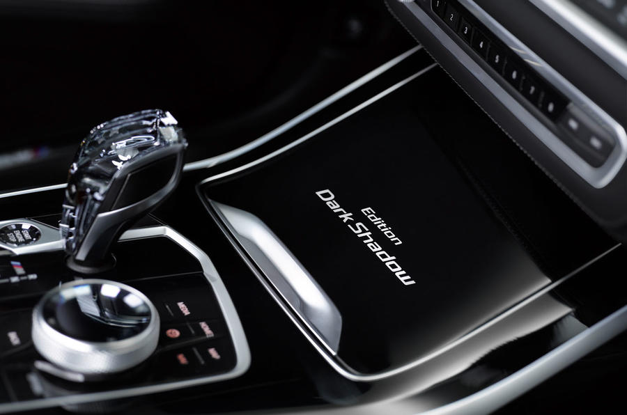 BMW X7 Dark Shadow Edition 2020 official images - centre console
