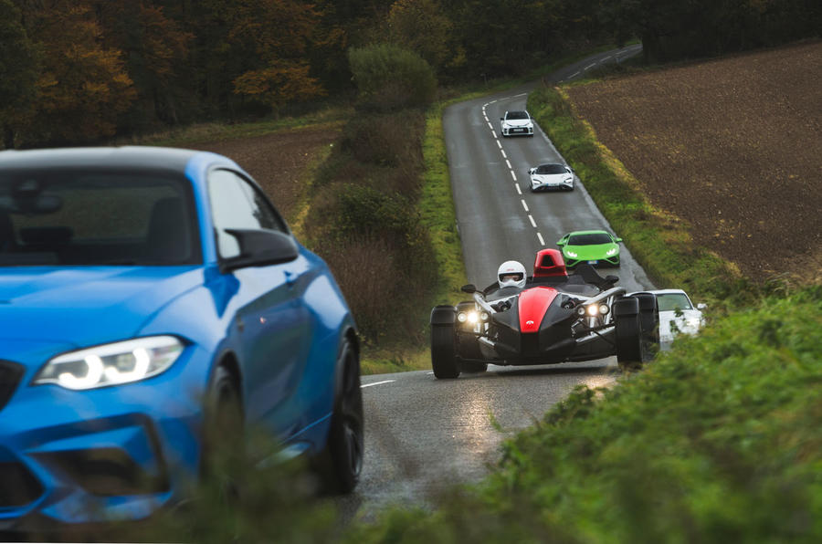 Britain's best drivers car 2020 - on road procession