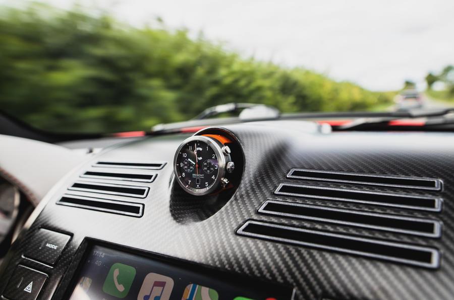 Callum Aston Martin Vanquish 25 first drive review - clock