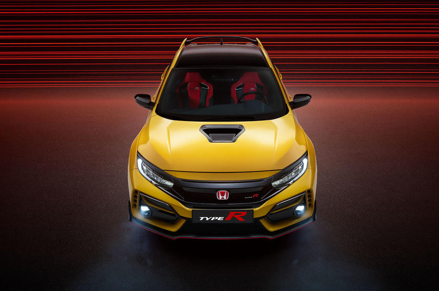 Honda Civic Type R limited edition 2020 official press photos - aerial