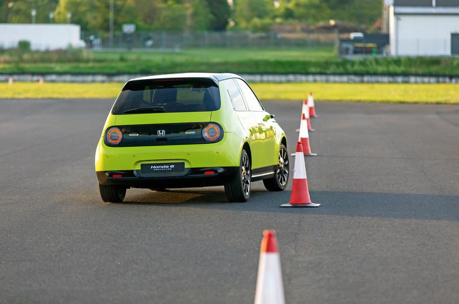 Honda e 2019 prototype drive - cones rear
