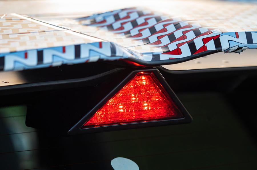 94 Hyundai Kona N prototype drive rear brake light