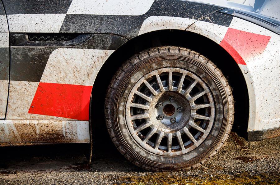 Jaguar F-Type rally car 2019 driven alloy wheels