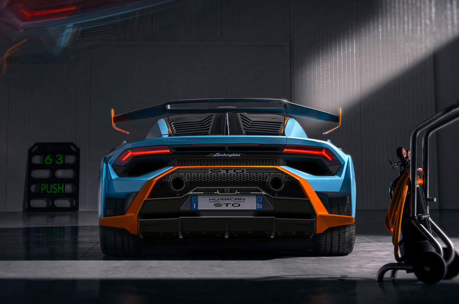 Lamborghini Huracan STO 2020 official images - rear end