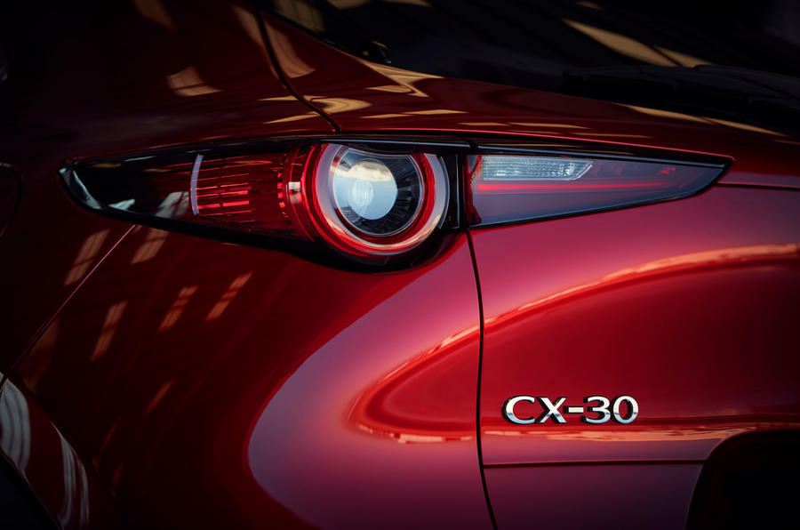 Mazda CX-30 2019 Geneva motor show reveal - rear lights