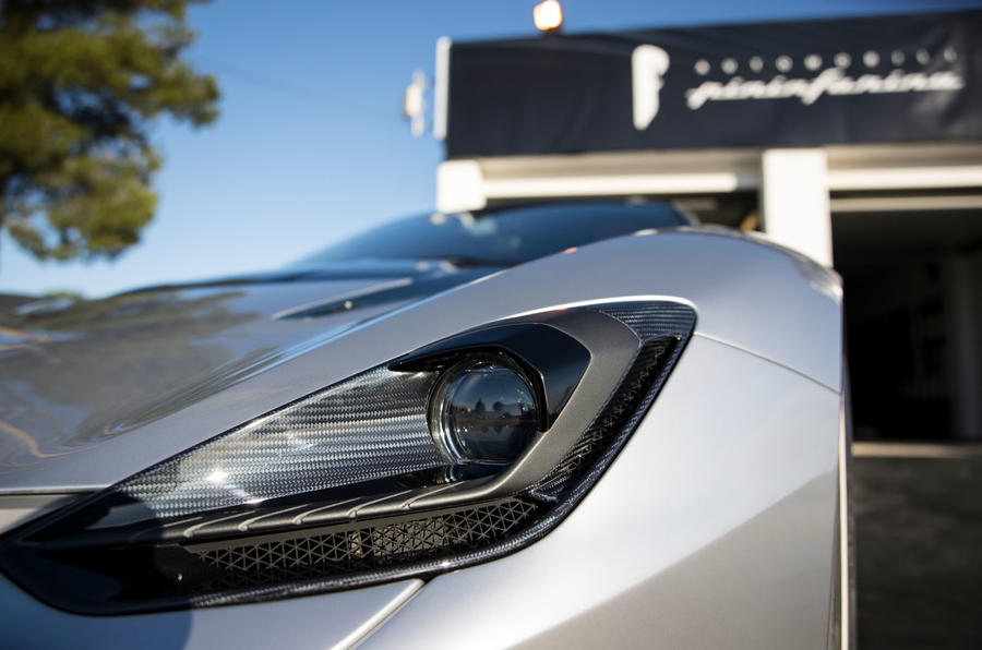 Pininfarina Battista customer preview event - headlights