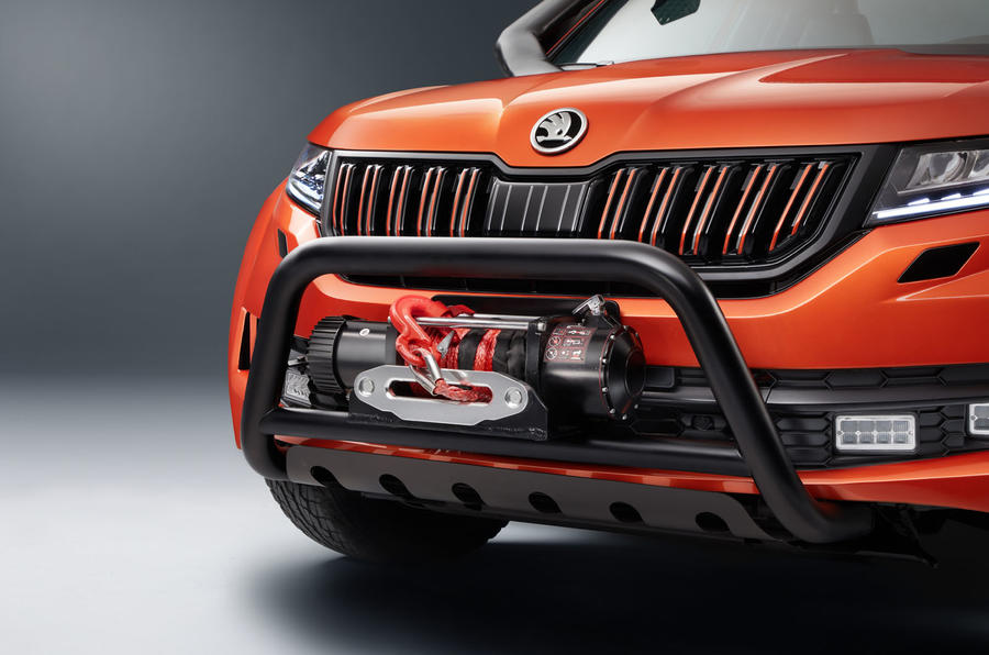 Skoda Mountiaq concept first drive review - front bumper