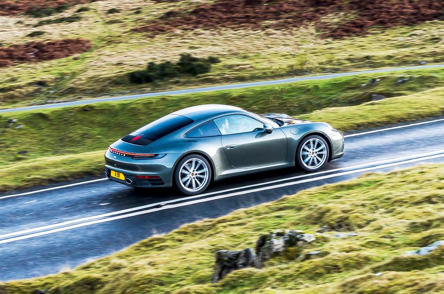 Top 50 cars 2020 - final five - Porsche 911 992 side