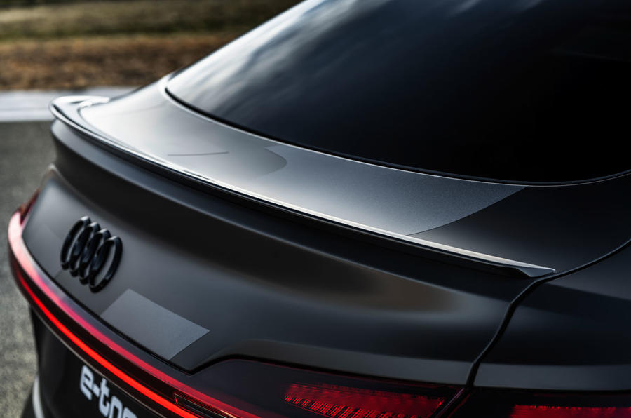 Audi E-tron S Sportback prototype drive - rear spoiler