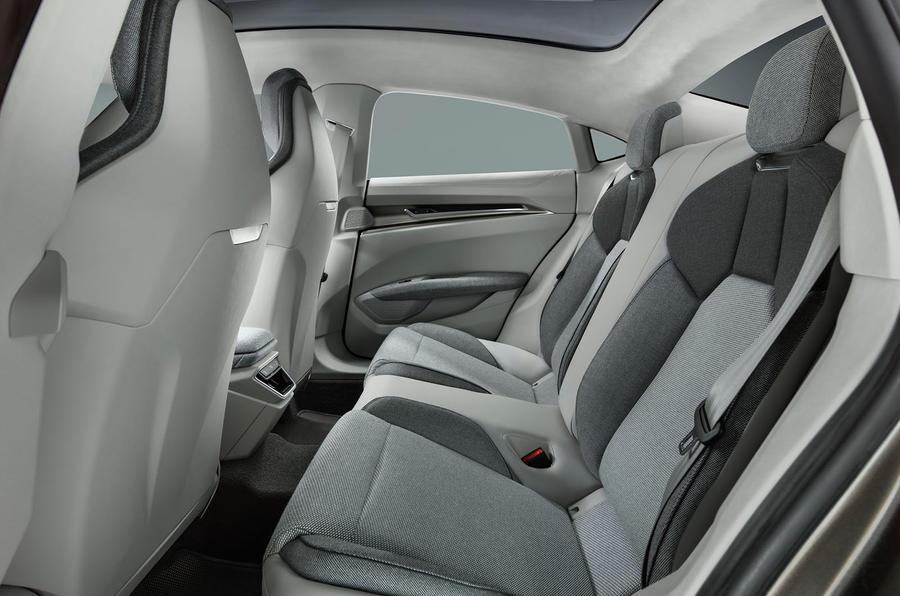 Audi E-tron GT concept rear cabin