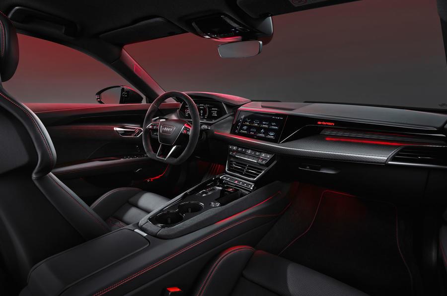 95 Audi RS E tron GT 2021 official reveal cabin