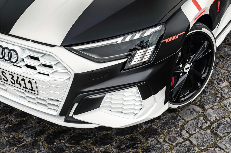 Audi S3 2020 prototype drive - headlights