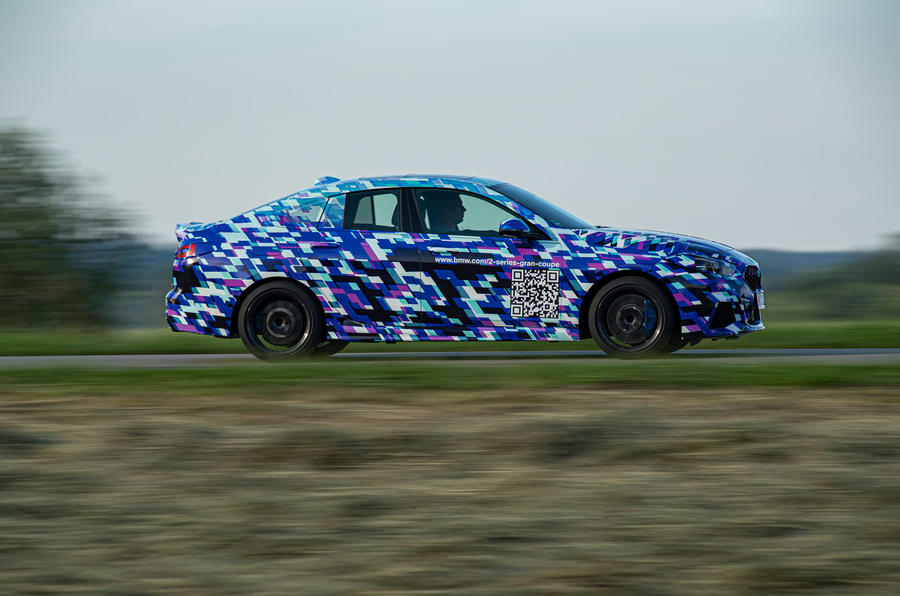 BMW 2 Series Gran Coupé prototype drive - on the road side