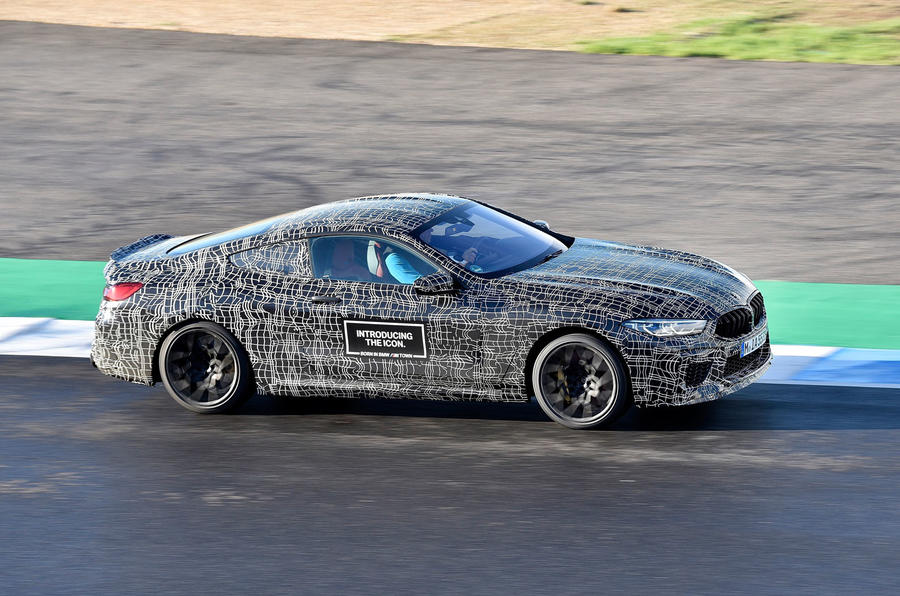 2019 BMW M8 prototype ride - track right