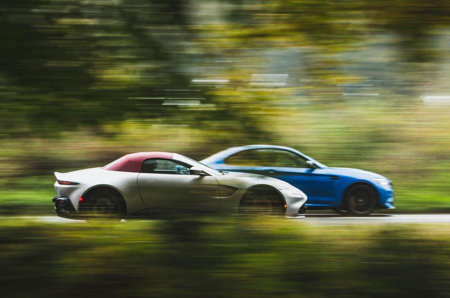 Britain's best drivers car 2020 - panning Aston vs BMW