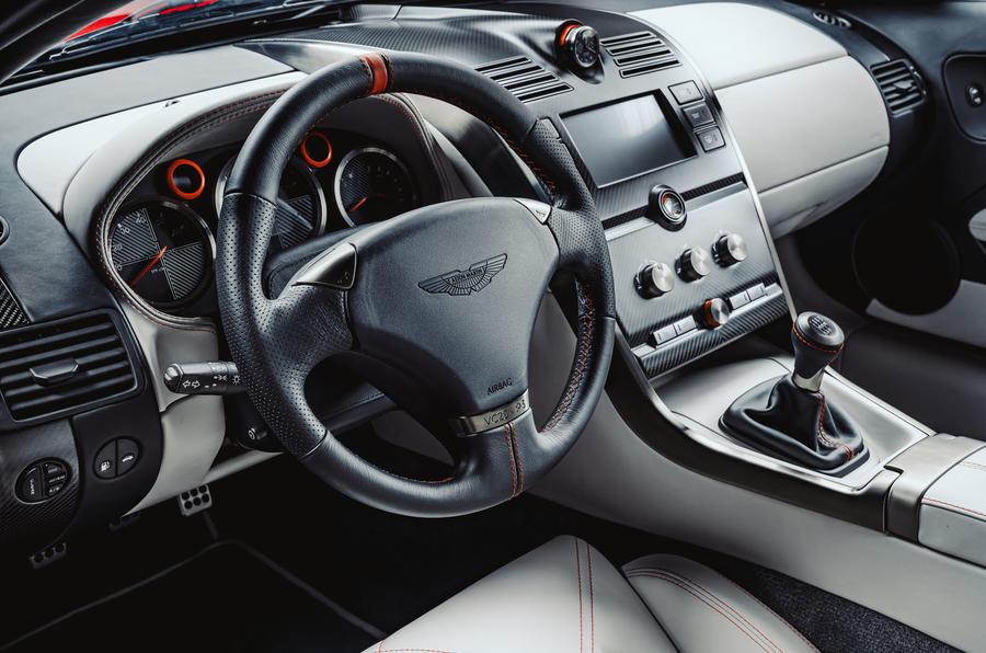 Callum Aston Martin Vanquish 25 first drive review - steering wheel