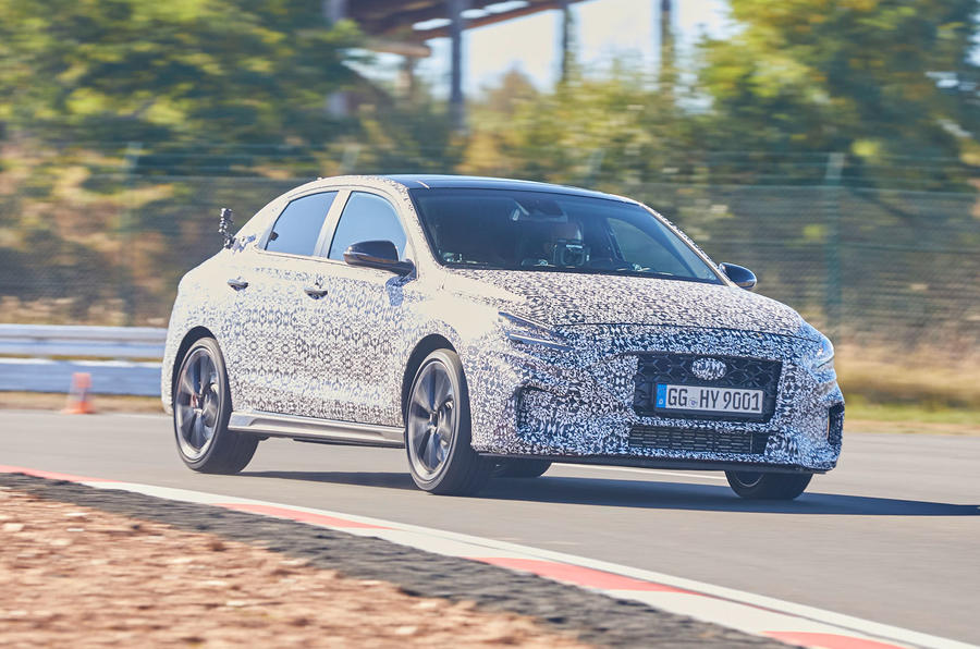 2021 Hyundai i30 Fastback N prototype drive - track front