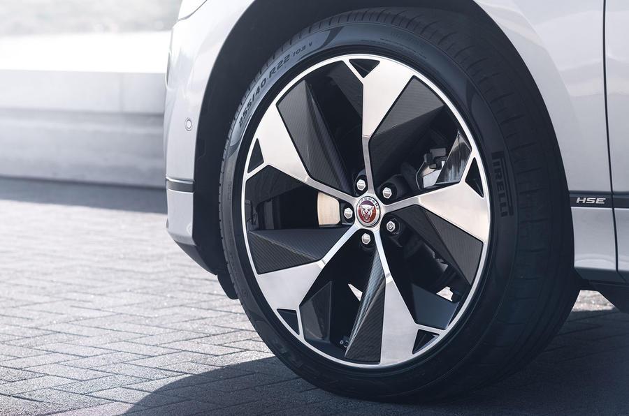Jaguar I-Pace 2021 facelift official images - alloy wheels
