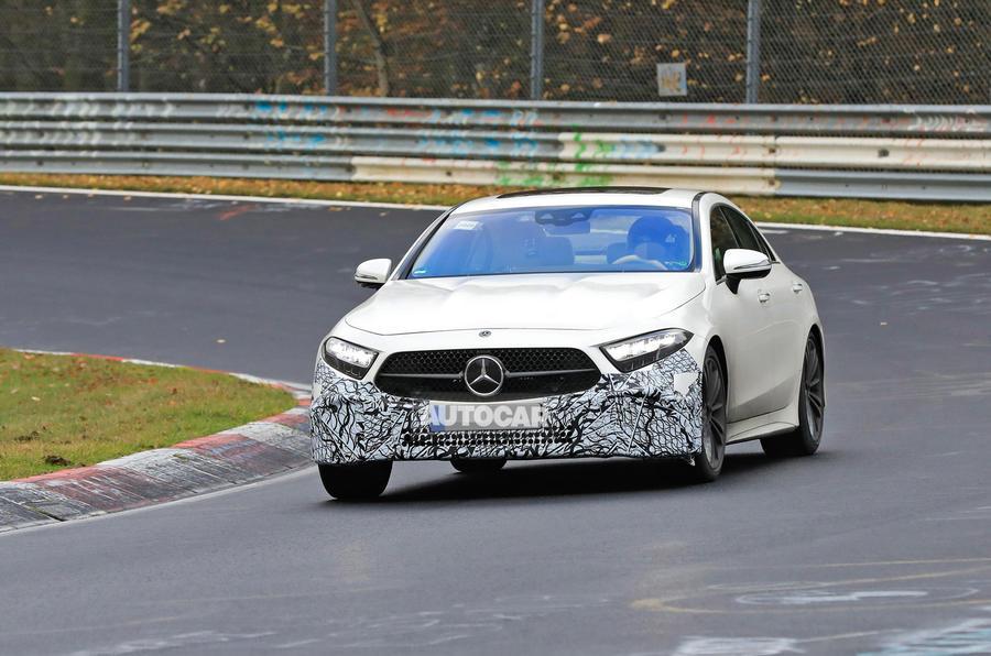 2021 Mercedes-Benz CLS spy photos - front
