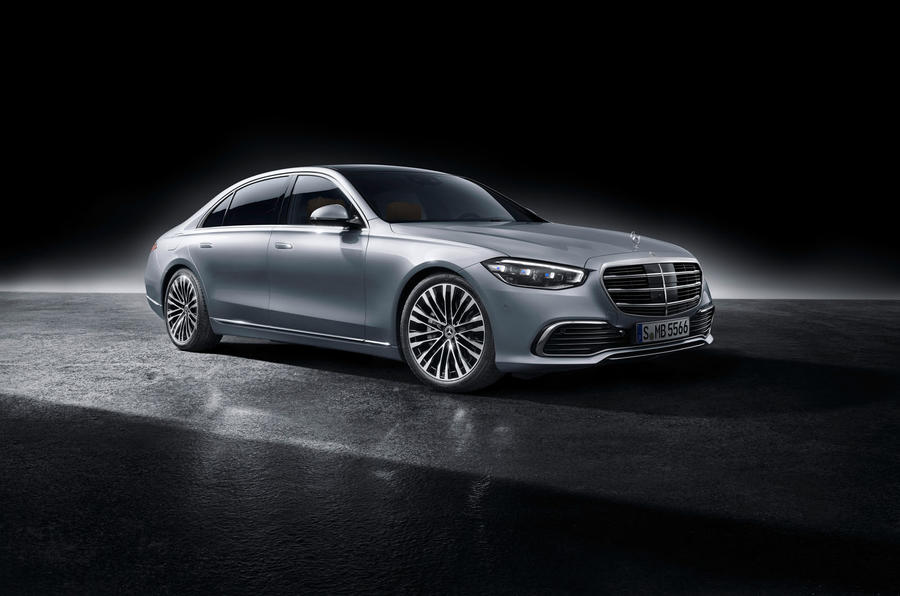 2021 Mercedes-Benz S-Class official reveal images - studio front