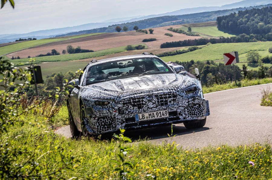 2021 Mercedes-Benz SL official disguised images - nose