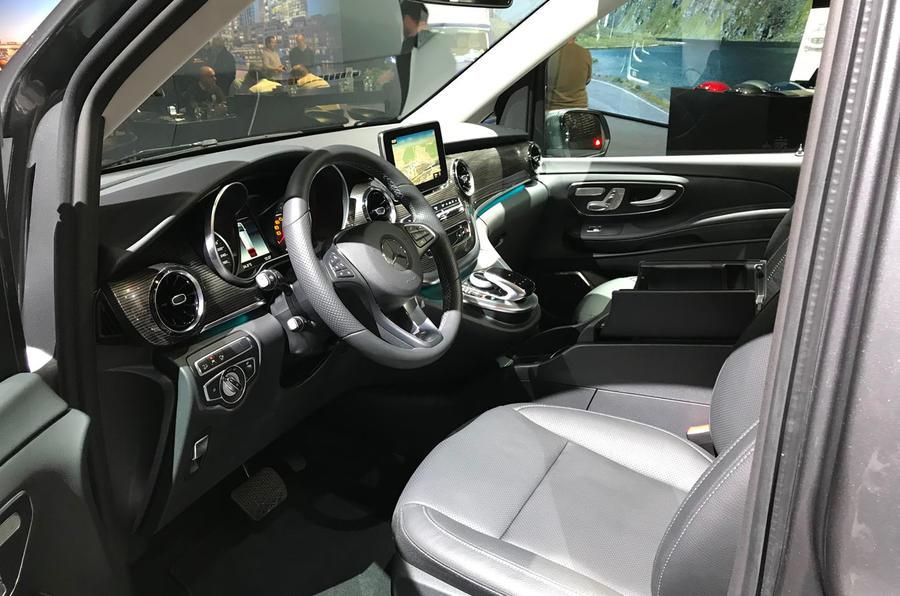 Mercedes-Benz V-Class 2019 reveal - cabin