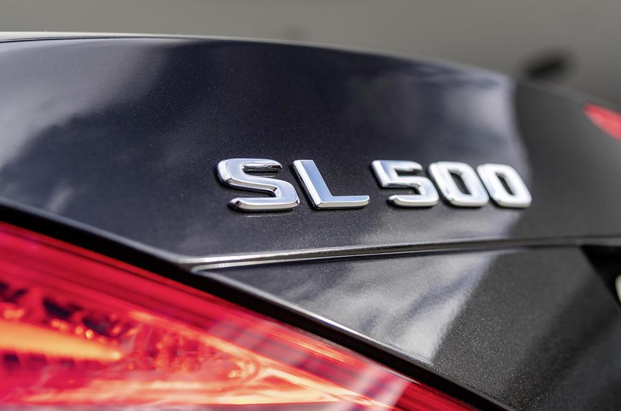 Mercedes SL Grand Edition official press - boot badge