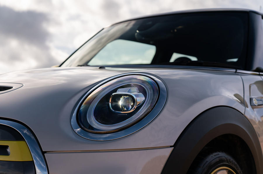 a month with a Mini Electric - headlights