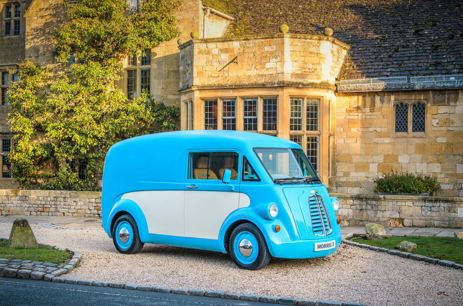 Morris JE electric van official images - static front