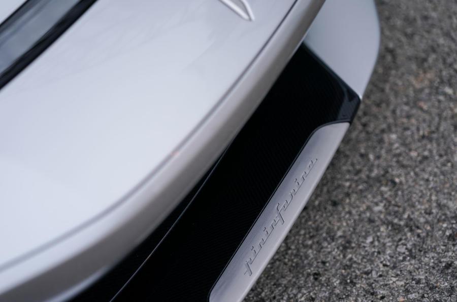 Pininfarina Battista customer preview event - front logo