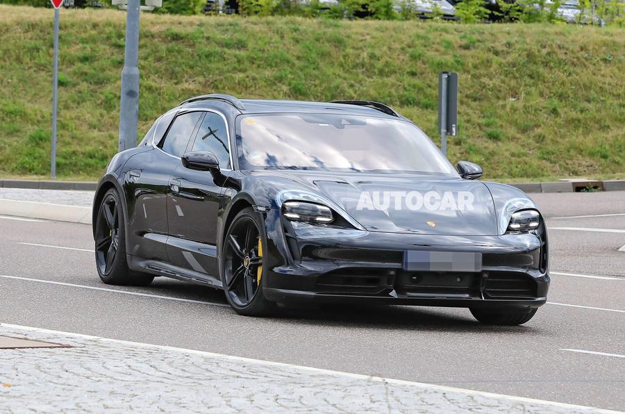 Porsche Taycan Cross turismo spy images - front
